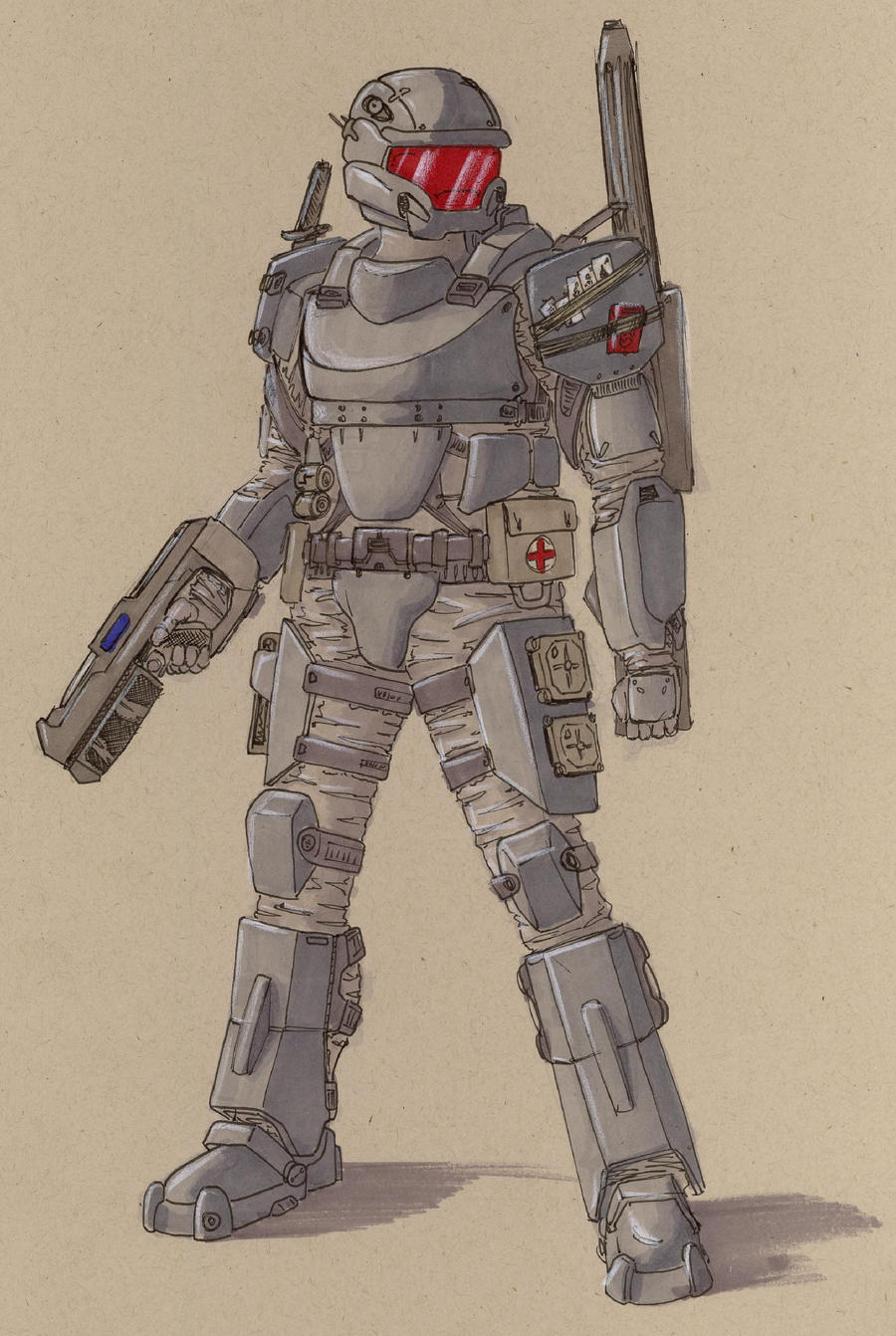 armored trooper 7 by Jepray