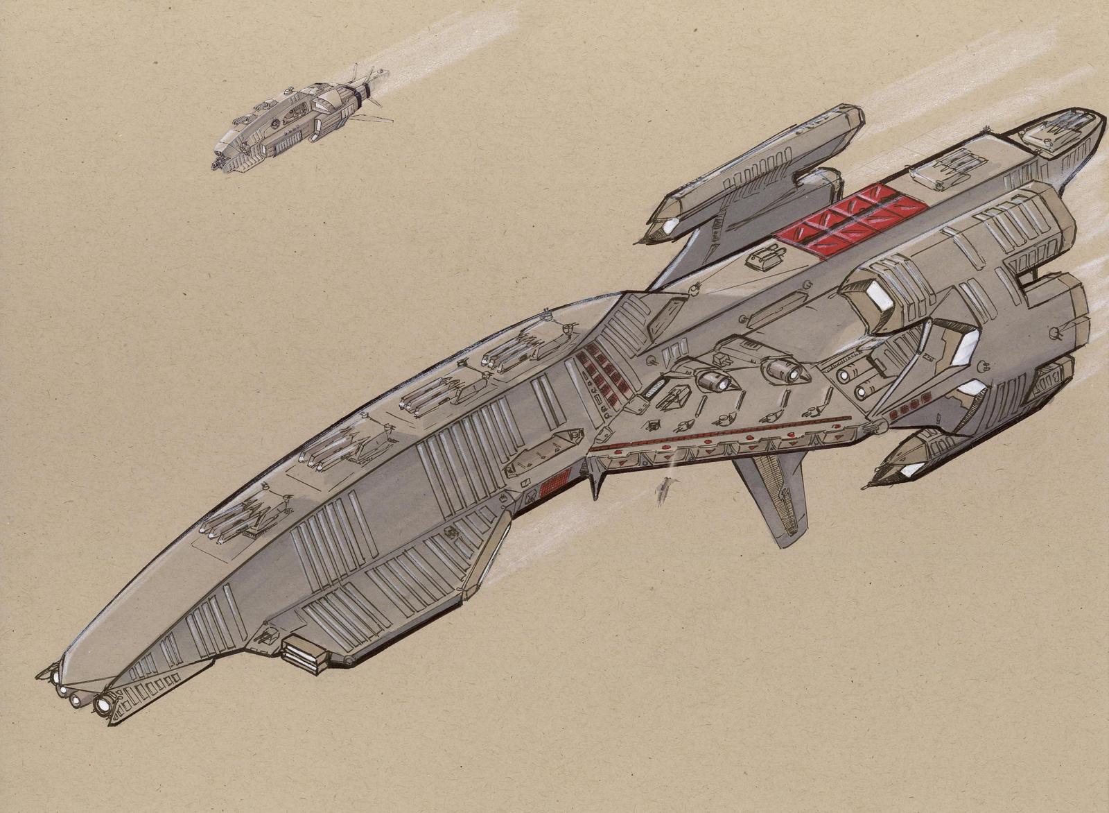 Akinakes class Battlecruiser by Jepray