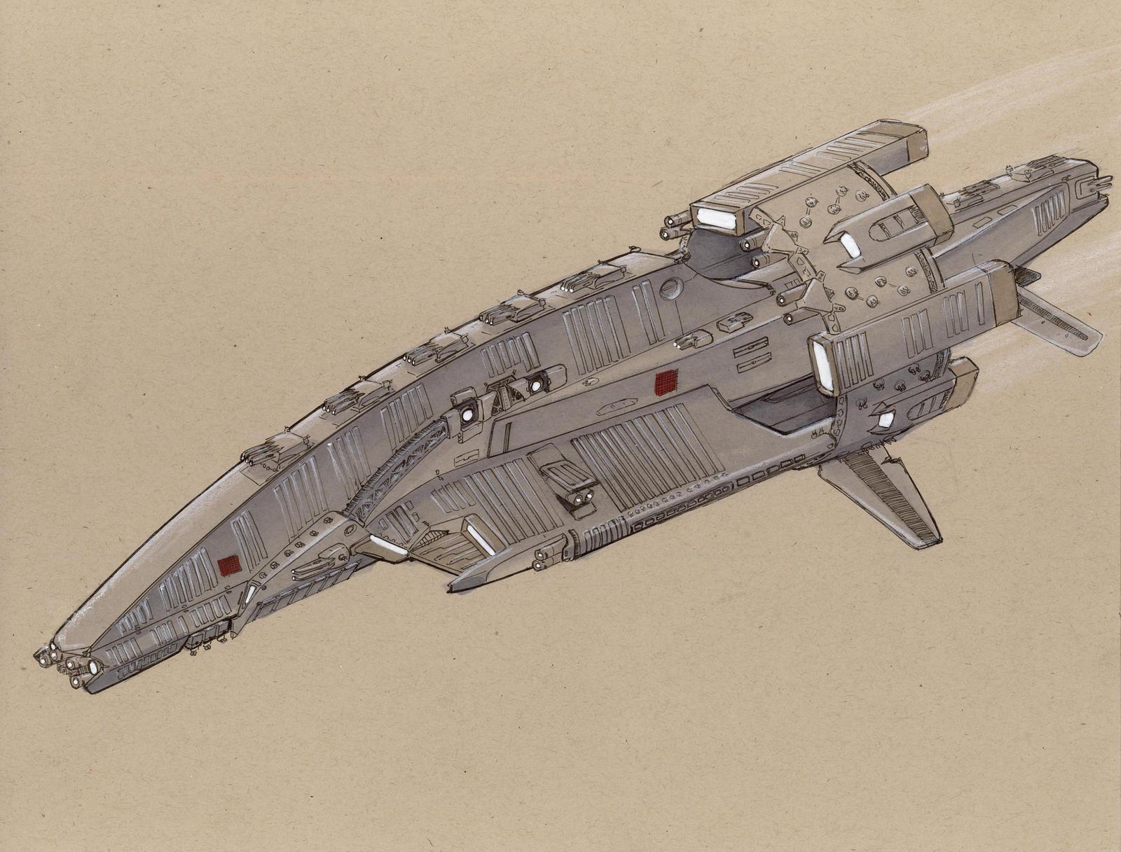 Kopis class Battleship Final by Jepray