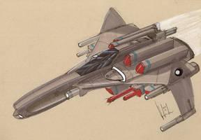 ASF-4 Reaper Fighter-Bomber by Jepray