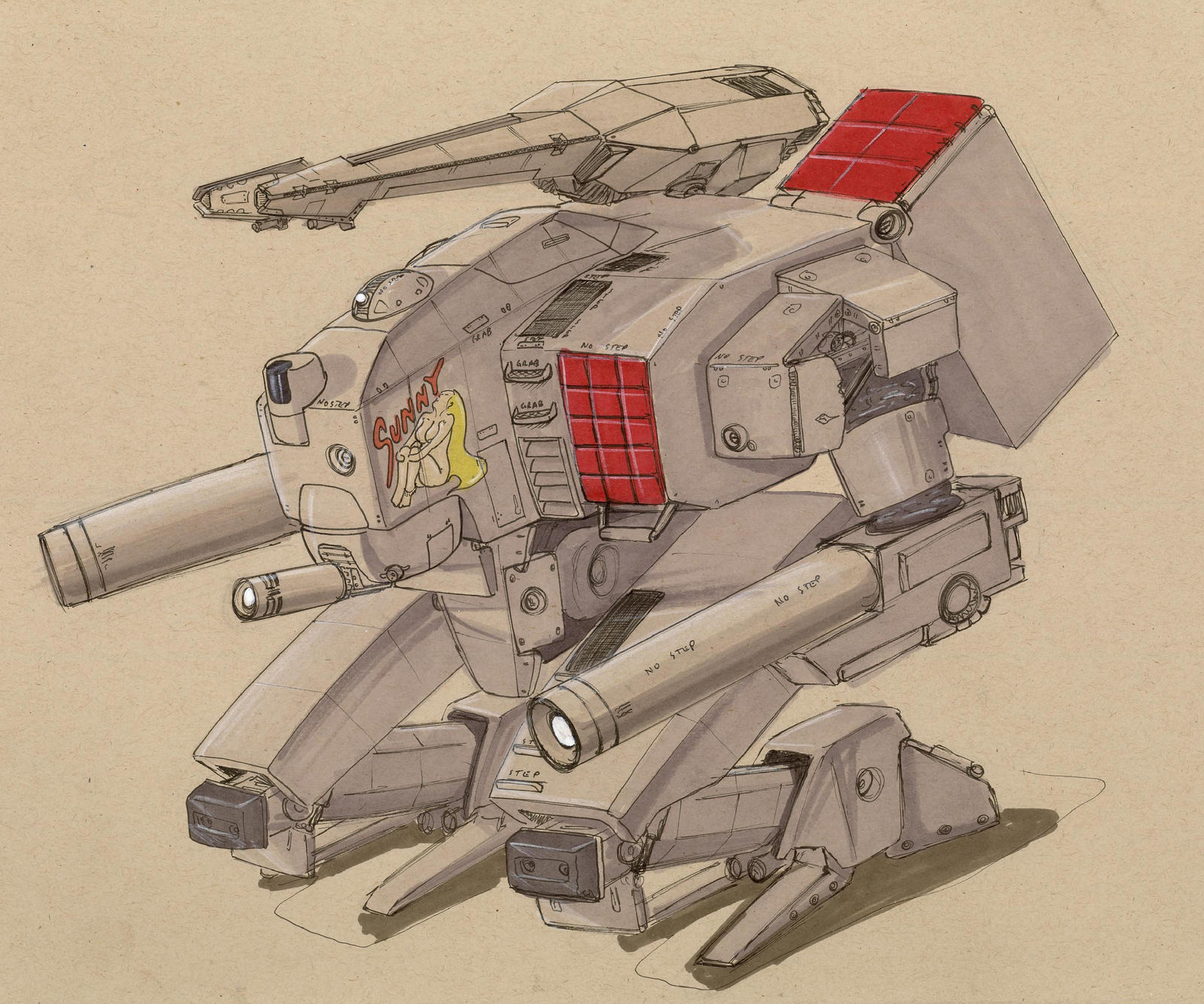 NAU Grizzly assault walker by Jepray