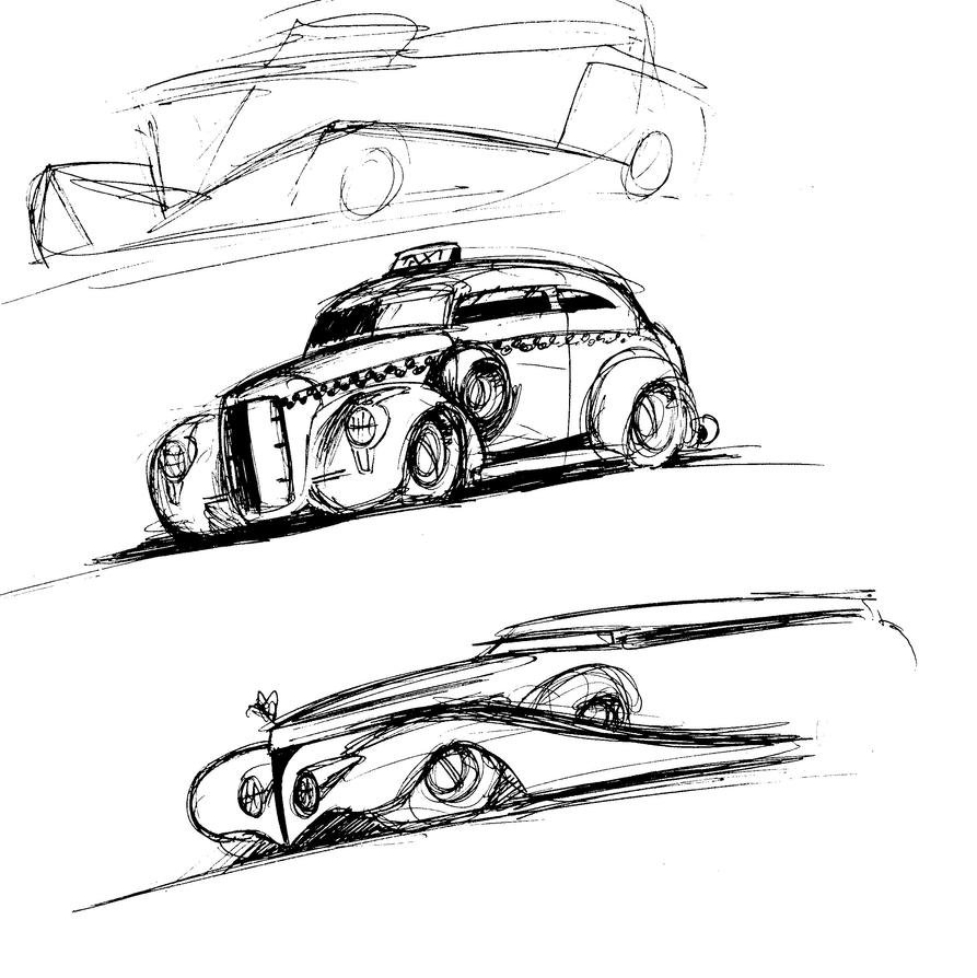 Old Car sketches by Jepray on DeviantArt