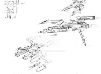 DN sketch, pocket carrier/landing assault craft