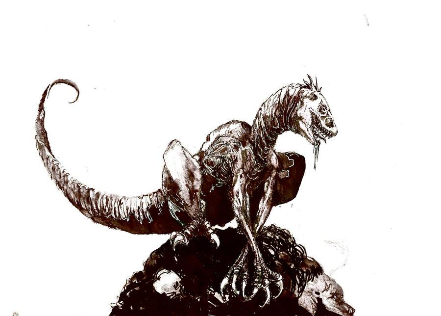 Zombie raptor by Zombiraptor