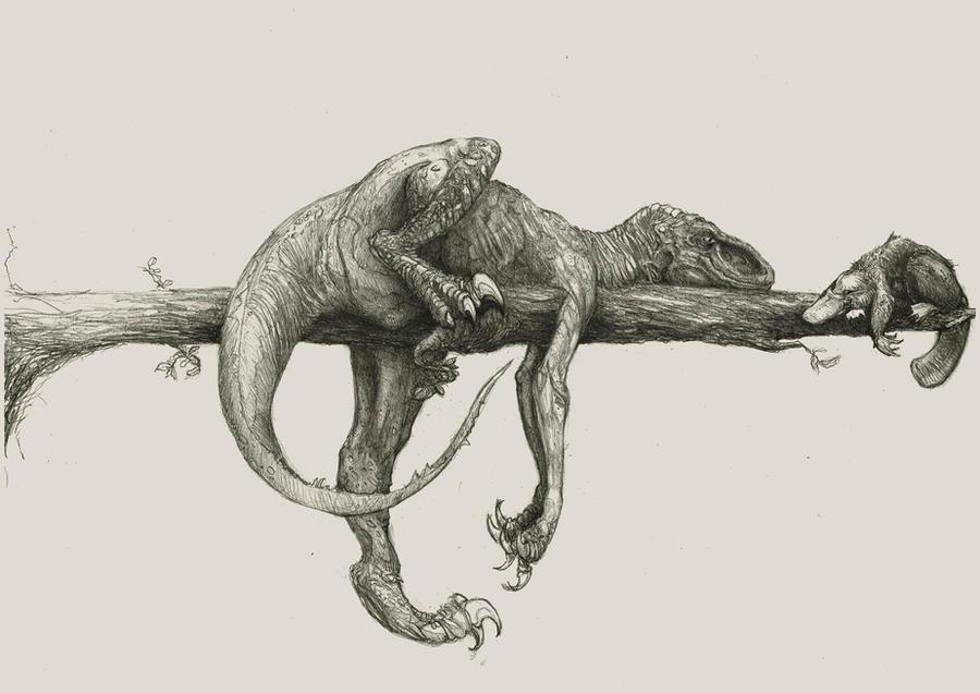 Jurassic Park Velociraptor Skeleton Tattoo raptor and platypus on...