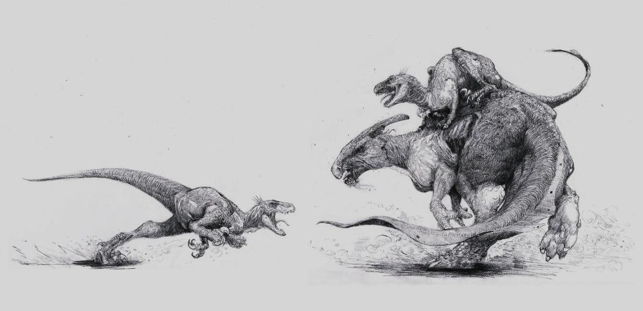 velociraptor painting related keywords - photo #1