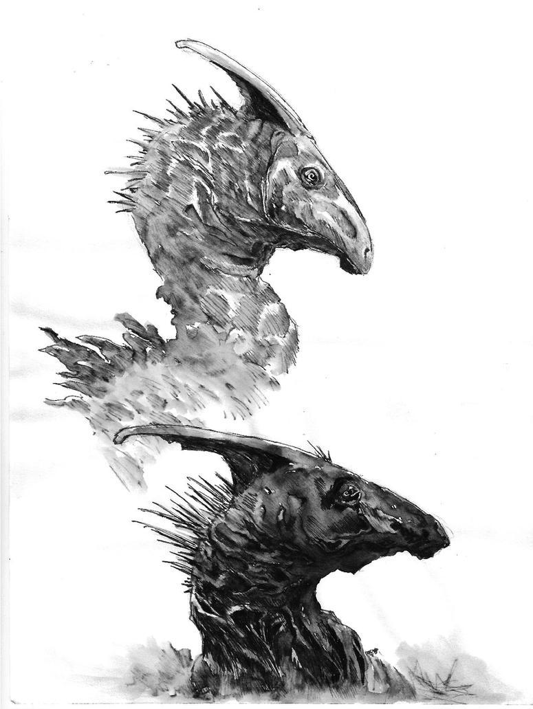 Parasaurolophus by Zombiraptor