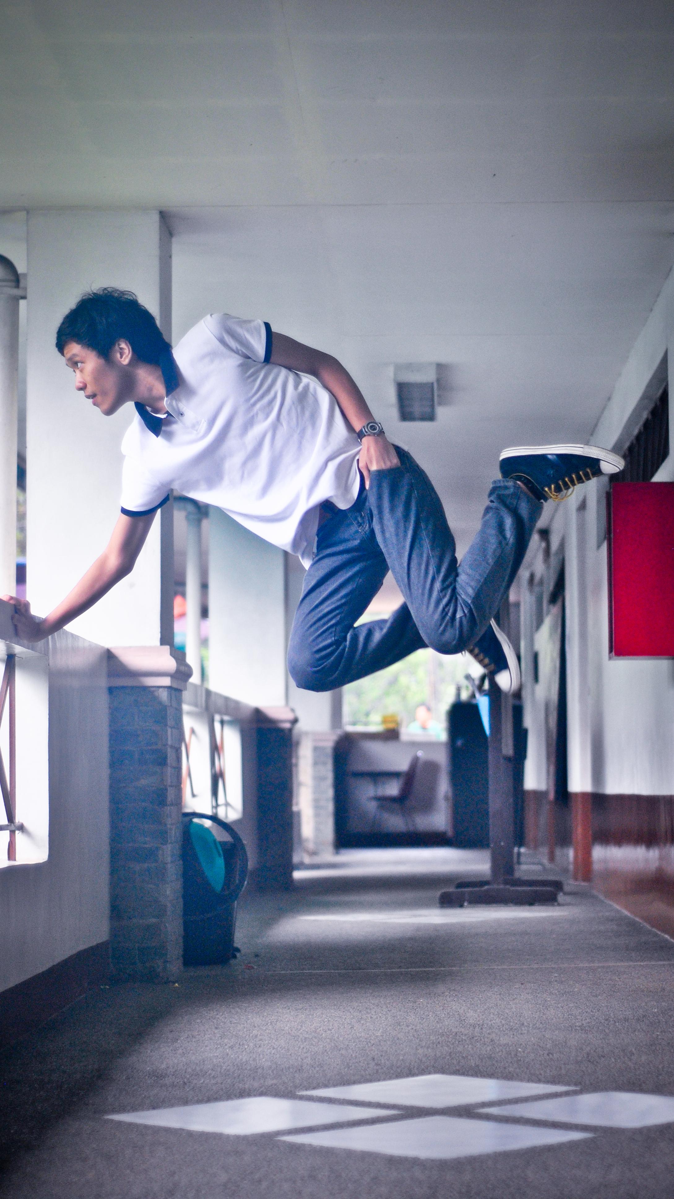 He didn't jump. He flew. by isangkilongkamera