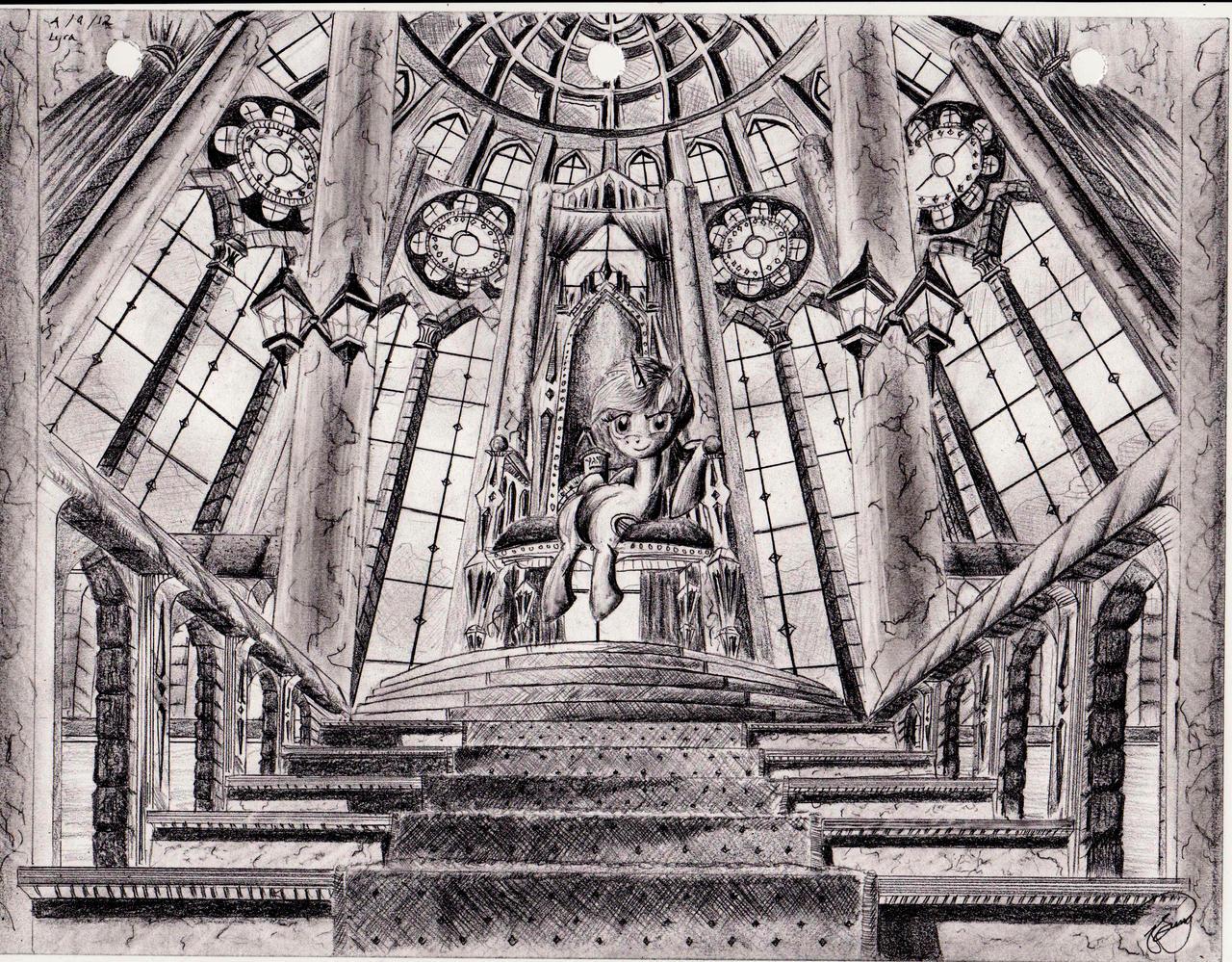 Lyra's throne by josh-5410