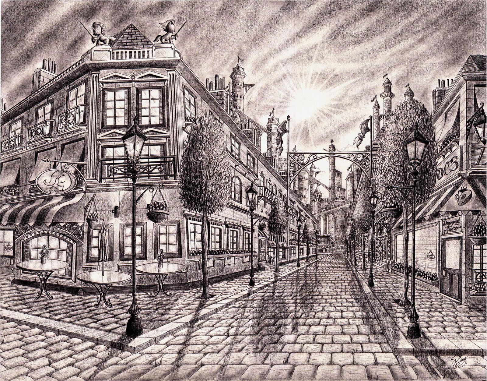 Canterlot streets interpretation by josh-5410
