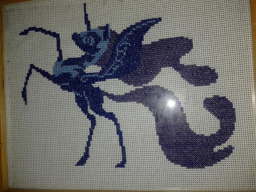 Nightmare moon cross stitch by Alilali