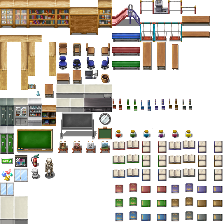 School B tileset RPGmaker MV by Alilali on DeviantArt
