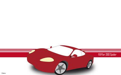 Ferrari vector Illustrator by 0leke