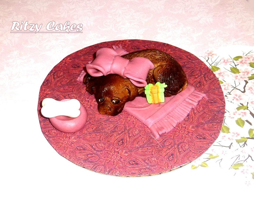 All-edible puppy cake by ritzycakes on DeviantArt