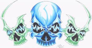 three skulls by KillingTim3