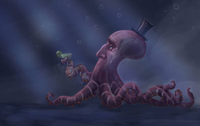 Mister Octopus by JenniJull