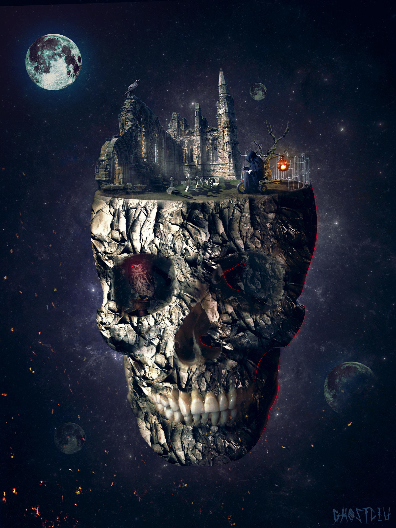 Scull In The Space 2