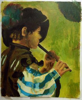 Hendrick ter Brugghen Flute Player Master Study