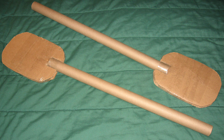 how to make an oar out of cardboard