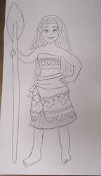 Moana Lineart 7-11-18 by Flood7585