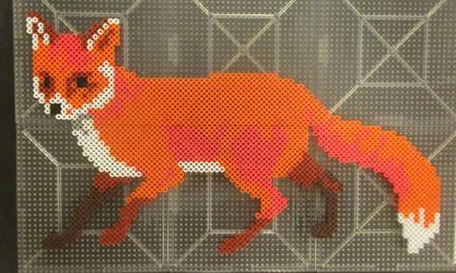 Red Fox Perler1