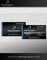 Distinctive Graphics and Web Design Business Cards by EnemyHitman