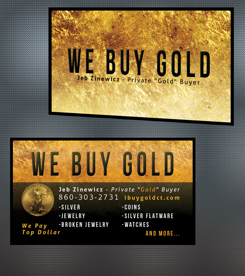 Business cards for a gold seller by EnemyHitman on DeviantArt