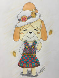 Isabelle! (Isacoin?) ACNH/Mario crossover