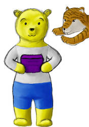 Jimmy the Pooh about to be glomped by Xinef5