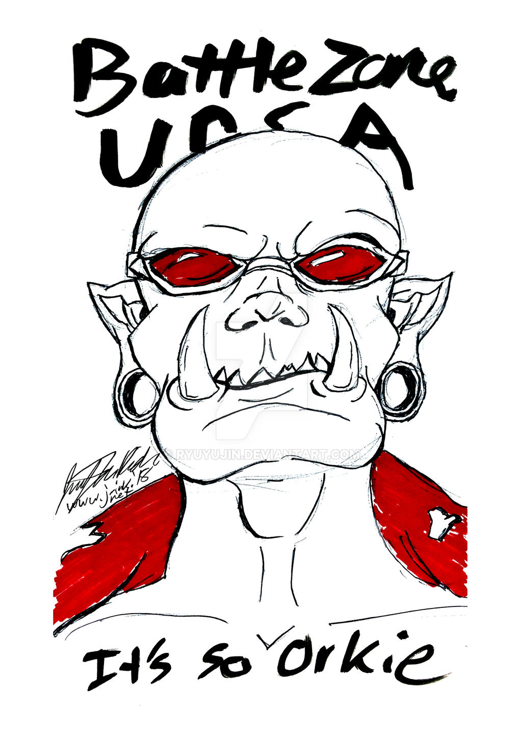 Battle Zone Ursa 2018 Sketch - Orkie