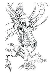 Battle Zone Ursa 2018 Sketch - Dragon