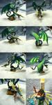 Green Rainbow Dragon by Ryuyujin