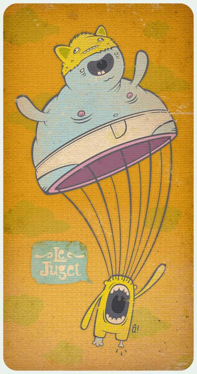 fatty fatty parachute