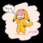 JongUp Pikachu cosplay