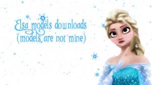 MMD Elsa Models downloads in description