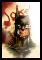 Batman colored by darylosaurus