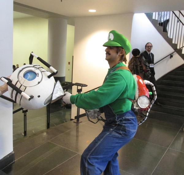 Wheatley and Luigi by RoyalBakaness
