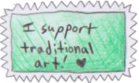 Traditional Art Stamp by End--Quote
