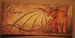 Dragon for Andrea -bookmark