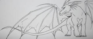 Dragon for Andrea -bookmark unpainted
