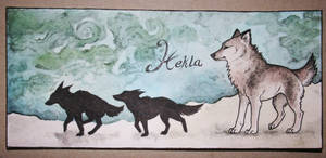 Wolfs for Hekla -bookmark