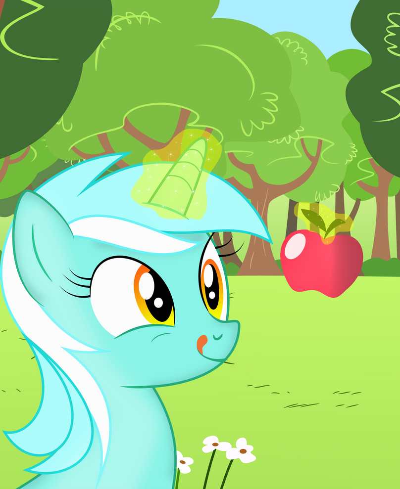lyra loves apples