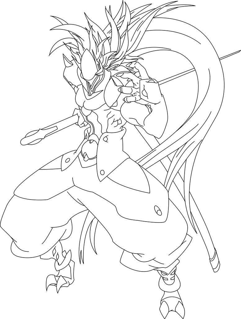 Line Drawing Quiet : Hakumen line art by thequietcat on deviantart