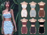EVE Strap Top Skirt Set - Sims4 DL
