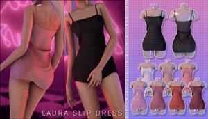 PEACH Laura Slip Dress   TS4
