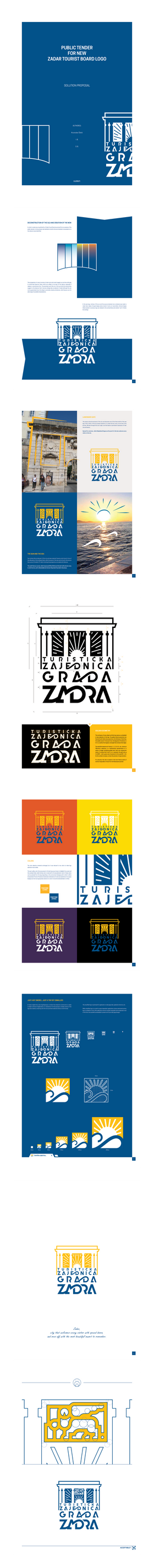 Zadar Tourist Board - logo concept by model850