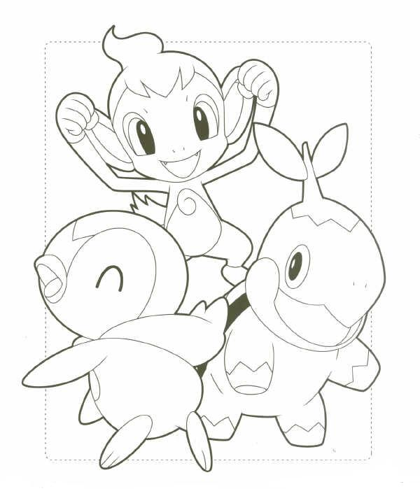 Pokemon Piplup Chimchar Turtwig Hot Girls Wallpaper Turtwig Coloring Pages
