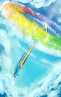 Rainboom in the sky by Tooyz
