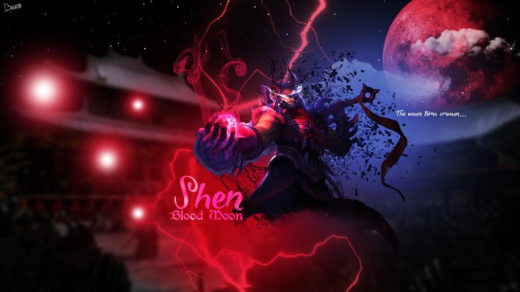 Bloodmoon Shen [New Splashart]. by Brumskyy on DeviantArt
