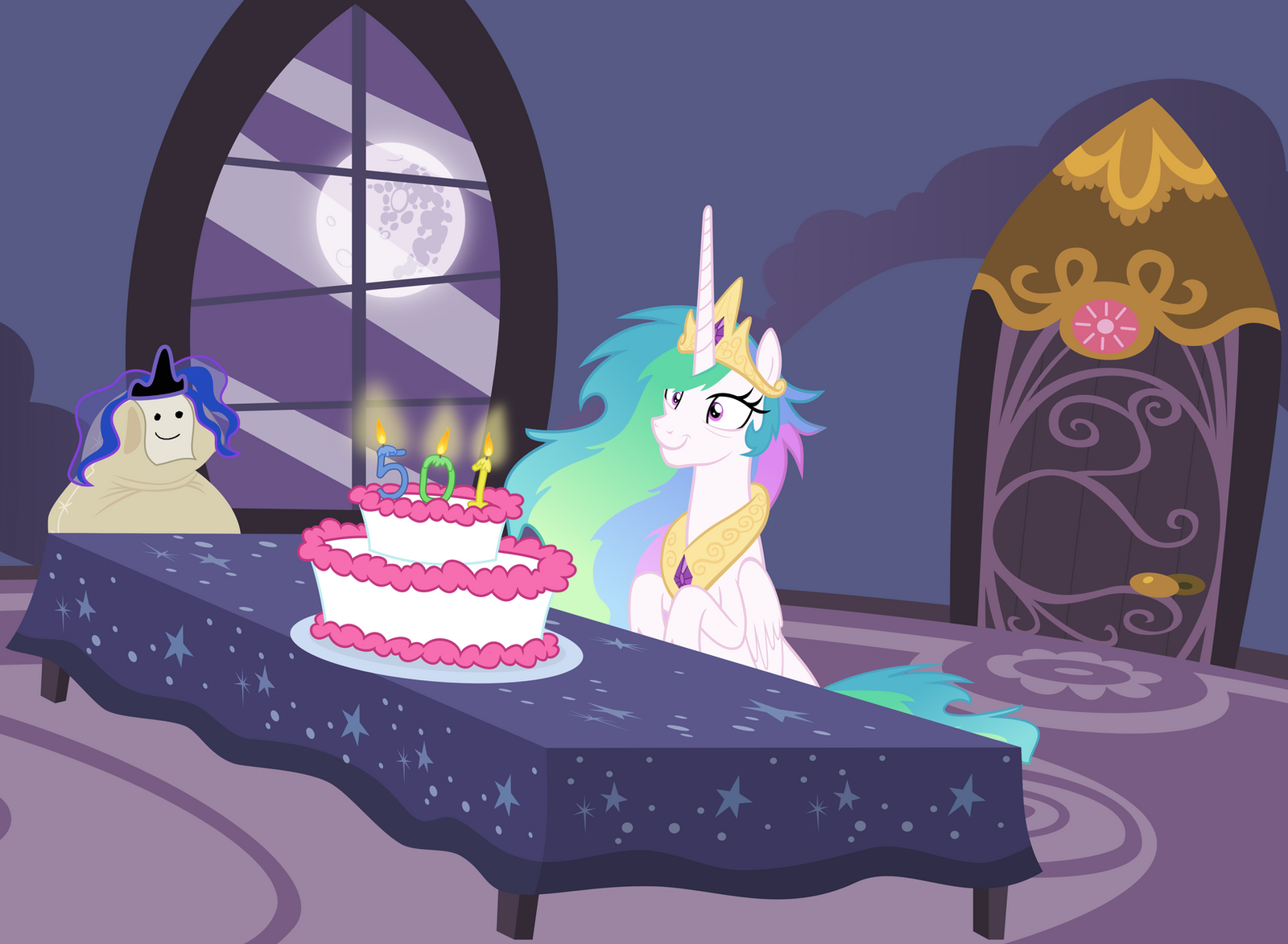 Princess Luna Moon Cake
